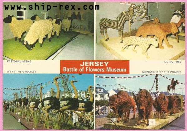 Jersey Battle Of Flowers Museum - multiview postcard (c)